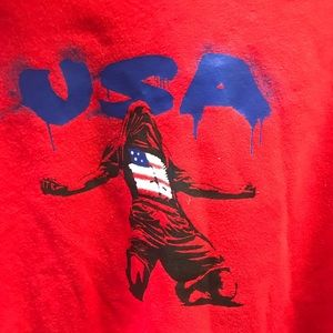 Adidas USA soccer red hoodie from 2014 World Cup